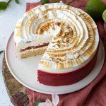 limecheesecake med rabarber- och jordgubbskompottt-6